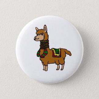 Cartoon Llama 2 Inch Round Button