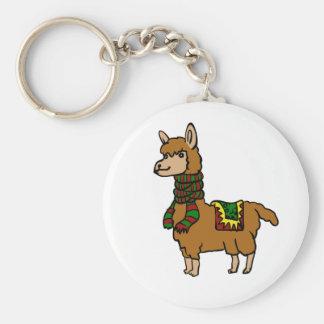 Cartoon Llama Keychain