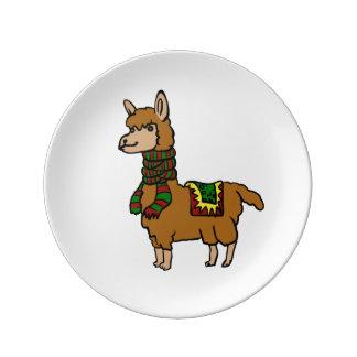 Cartoon Llama Plate