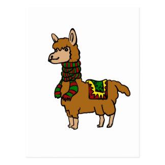 Cartoon Llama Postcard