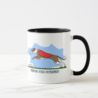 Cartoon Lure Coursing Whippet Mug