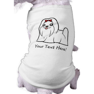 Cartoon Maltese (show cut) Dog Tee