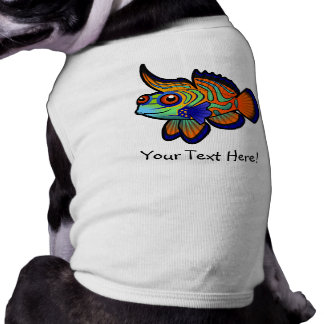 Cartoon Mandarin / Dragonet Fish Doggie T-shirt