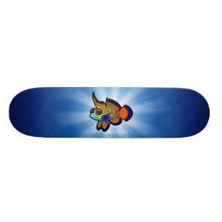 Cartoon Mandarin / Dragonet Fish Skateboard Deck