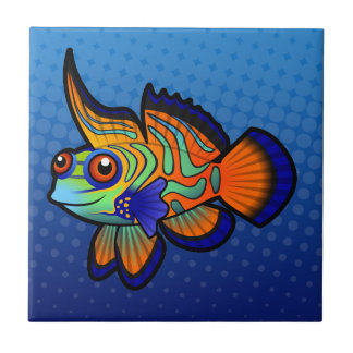 Cartoon Mandarin / Dragonet Fish Tile