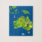 Cartoon Map of Australia and Oceania Puzzle