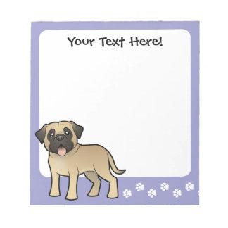 Cartoon Mastiff / Bullmastiff Notepad