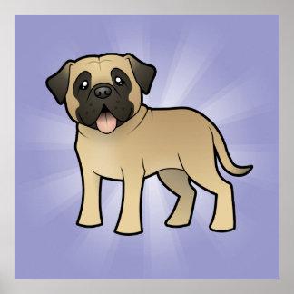 Cartoon Mastiff / Bullmastiff Poster