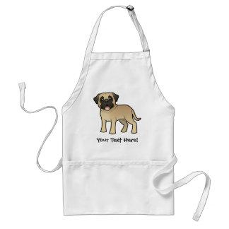 Cartoon Mastiff / Bullmastiff Standard Apron
