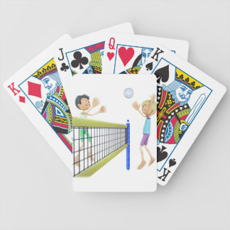 Cartoon Men Playing Volleyball Bicycle Playing Cards