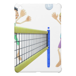 Cartoon Men Playing Volleyball Case For The iPad Mini