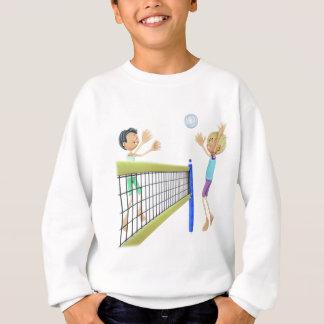 Cartoon Men Playing Volleyball Sweatshirt