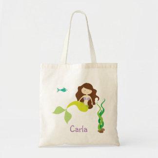 Cartoon Mermaid Treat Bag