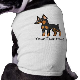 Cartoon Miniature Pinscher / Manchester Terrier Pet T-shirt