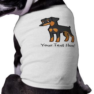 Cartoon Miniature Pinscher / Manchester Terrier Dog Tee Shirt
