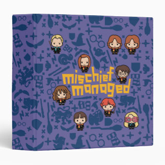 "Cartoon ""Mischief Managed"" Graphic 3 Ring Binder"
