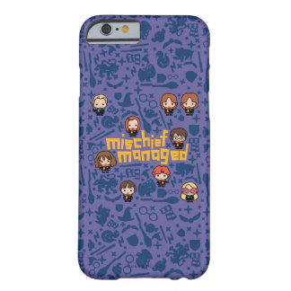 """Cartoon """"Mischief Managed"""" Graphic Barely There iPhone 6 Case"""