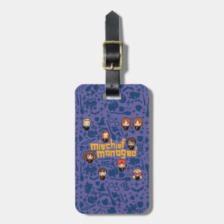 "Cartoon ""Mischief Managed"" Graphic Luggage Tag"