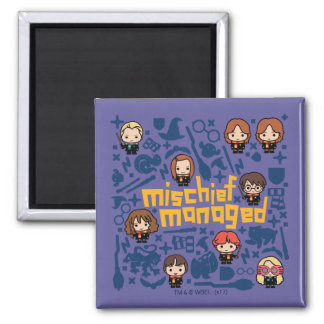 "Cartoon ""Mischief Managed"" Graphic Magnet"