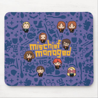 "Cartoon ""Mischief Managed"" Graphic Mouse Pad"