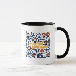 "Cartoon ""Mischief Managed"" Graphic Mug"