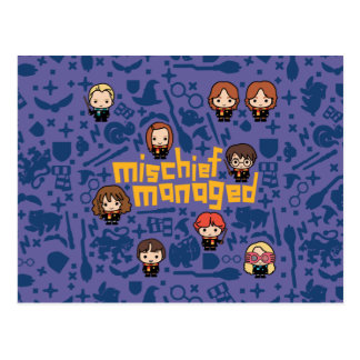 "Cartoon ""Mischief Managed"" Graphic Postcard"