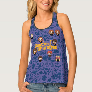 "Cartoon ""Mischief Managed"" Graphic Tank Top"