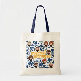 "Cartoon ""Mischief Managed"" Graphic Tote Bag"