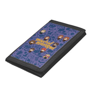"Cartoon ""Mischief Managed"" Graphic Tri-fold Wallet"
