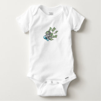 Cartoon Money Megaphone Concept Baby Onesie