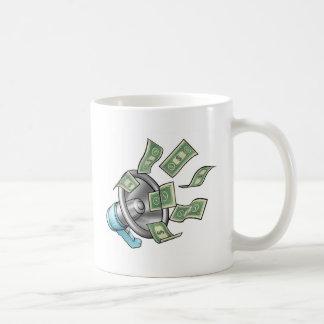 Cartoon Money Megaphone Concept Coffee Mug
