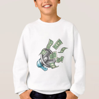 Cartoon Money Megaphone Concept Sweatshirt