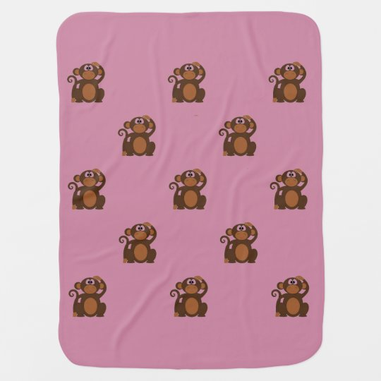 Cartoon Monkey Baby Blanket