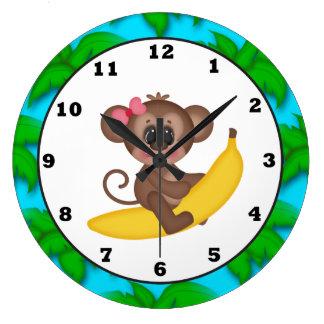 Cartoon Monkey fun wall clock
