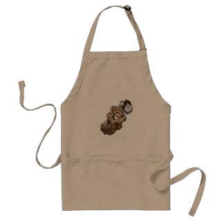 Cartoon monkey skull standard apron