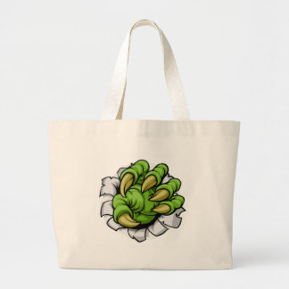 Cartoon Monster Claw Hole Large Tote Bag