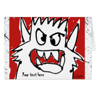 Cartoon Monster Personalized Greeting Card