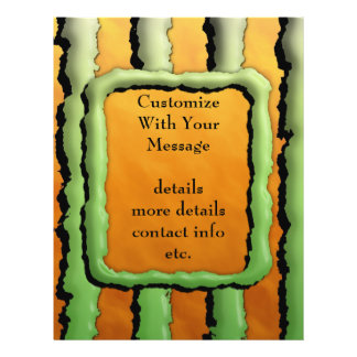 Cartoon Monster Stripes Personalized Flyer