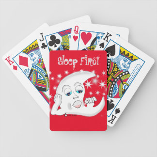 Cartoon Moon male Bicycle Playing Cards