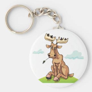 Cartoon Moose Keychain