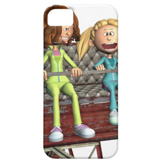 Cartoon Mother and Daughter on a Ferris Wheel iPhone 5 Case