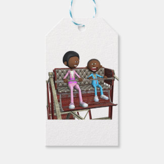 Cartoon Mother and Son on a Ferris Wheel Gift Tags