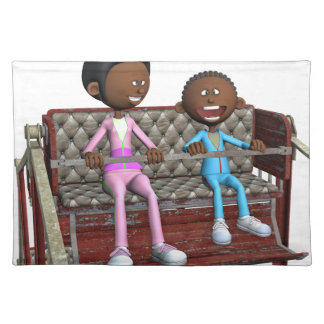 Cartoon Mother and Son on a Ferris Wheel Placemat