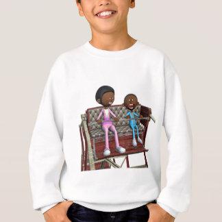 Cartoon Mother and Son on a Ferris Wheel Sweatshirt