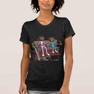 Cartoon Mother and Son on a Ferris Wheel T-Shirt