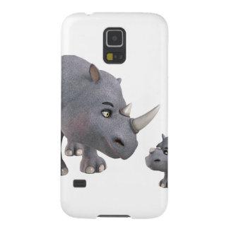 Cartoon mother and Son Rhino Galaxy S5 Case