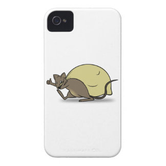 Cartoon Mouse Carrying Bag and Giving Thumbs Up iPhone 4 Cover