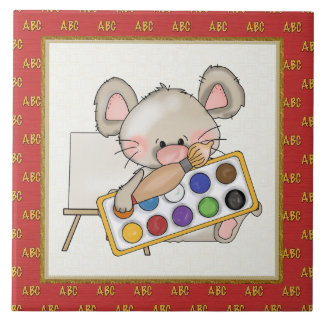 Cartoon Mouse cartoon school tile