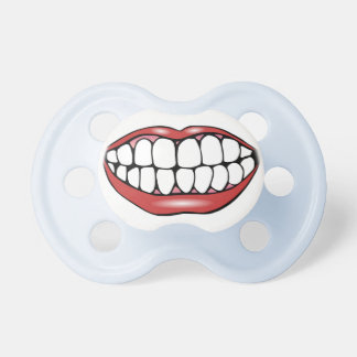 Cartoon Mouth With Teeth Baby Pacifier