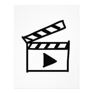 Cartoon Movie Clapperboard Customized Letterhead